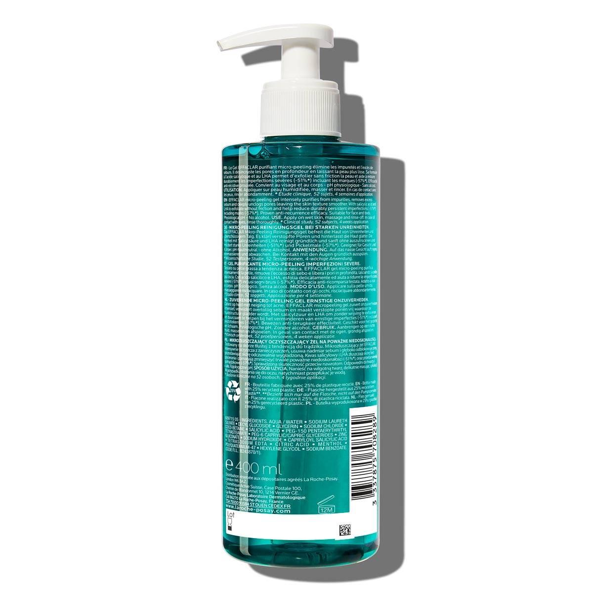 Effaclar Micro Peeling Purifying Gel 400ml 2% Salicylic Acid Oily Skin BSS
