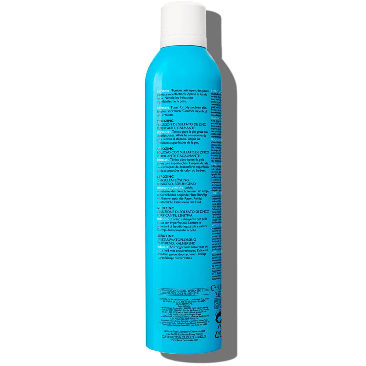 La Roche Posay ProductPage Serozinc Spray Zinc 300ml 3337875565783 Bac